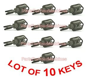 10 Keys For Ignition Switch Pollak For Clarke Vision Encore Floor Scrubbers