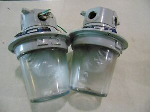 2 Appleton stylmaster Industrial Light Fixtures 115v Standard Bulb Glass