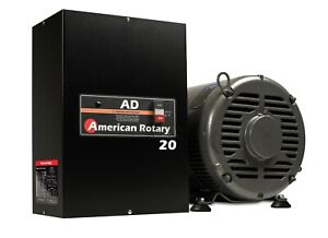 Rotary Phase Converter Ad20 20 Hp Digital Controls Heavy Duty Cnc Made In Usa