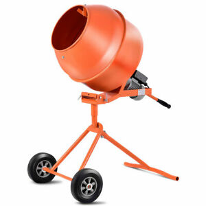 Electric Portable Vertical 5 Cubic Foot Concrete Mortar Cement Stucco Mixer