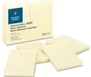 Wholesale Sticky Notes Ruled 100 Sh pad 4x6 Yellow Colors 120 Pads