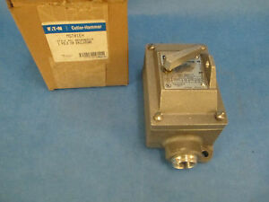 Cutler hammer Toggle Switch Mst01eh 1p Stainless Steel New Surplus