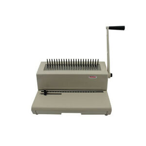 New Tamerica 190pb Manual Plastic Comb Binding Machine Free Shipping