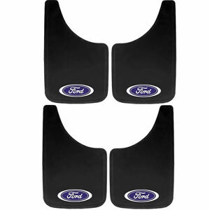 4pc Ford Built Tough Oval Logo 9x15 Mud Splash Guards Flaps For Car Truck Suv