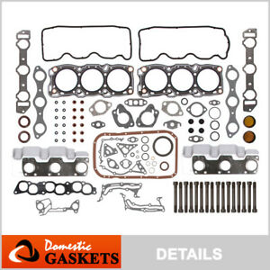 Fits 87 00 Dodge Spirit Plymouth Voyager 3 0l Sohc Full Gasket Set Bolts 6g72