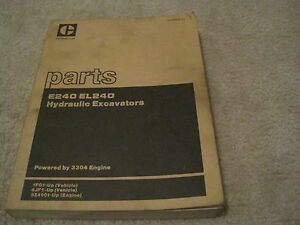 Caterpillar E240 El240 Excavator Parts Manual rare Cat Parts Manual Xebp9836