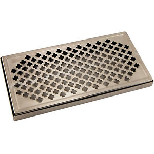 12 Surface Mount Drip Tray Stainless Steel No Drain Draft Beer Spill Catcher