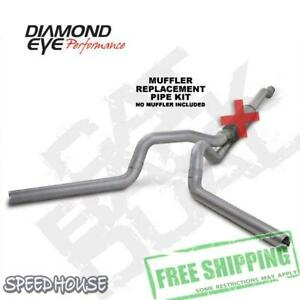 Diamond Eye 4 In Straight Dual Exhaust For 03 07 Ford 6 0l Powerstroke K4340a rp
