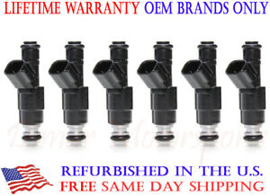 lifetime Warranty 1999 2004 Jeep 4 0 Cherokee 4 hole Upgrade Fuel Injector Set