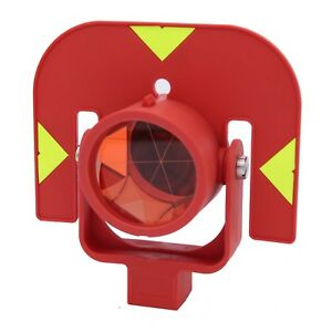 Gpr111 Swiss Style Red Color Single Prism For Leica Type Total Station