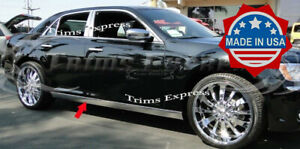 Fit 2011 2019 Chrysler 300 300c Extreme Lower Rocker Panel Trim Stainless 2pc