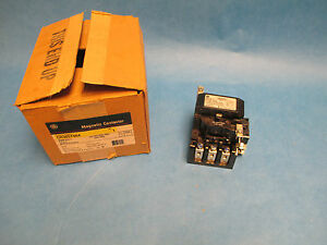 Ge Magnetic Contactor Cr305t004 Size 2 4p 440 480v Coil New Surplus