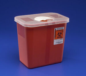 Sharps Disposable Biohazard Container 2 Gallon Red 30 cs 8970x30