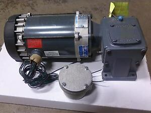 1 2 Hp Marathon Electric Motor W Gear Reducer Junction Box