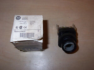 New Allen Bradley 800h dr6d2 Series F Pushbutton Switch Missing Red Cap