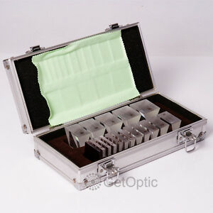 Optical Prism Set Bar 16 Pieces Aluminum Case