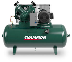 Champion Air Compressor Hrv7 12 7 5 Hp 120 Gal Single Phase W Aftercooler