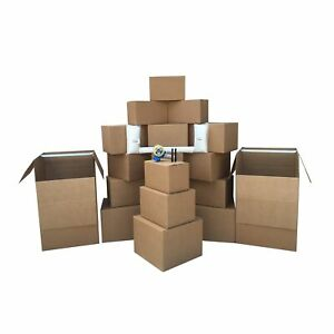 2 Room Wardrobe Kit 20 Moving Boxes Plus Packing Supplies 110 Value