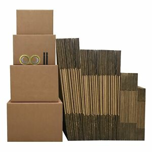 Moving Boxes 5 Room Economy Kit 62 Boxes Plus Packing Supplies