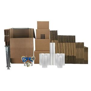 Uboxes 7 Room Wardrobe Kit 84 Corrugated Moving Boxes With Packing Supplies
