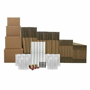 10 Room Basic Kit 143 Moving Boxes Plus 128 In Packing Materials