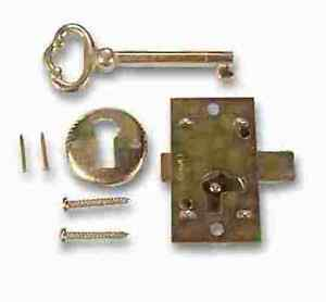 L 1b 05 Brass Plated Steel Flush Mnt Cabinet Door Lock Key Lot Of 5 Pcs