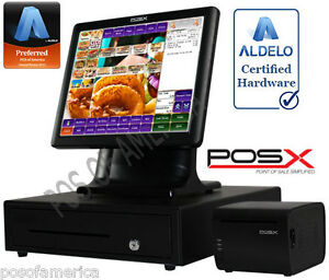 Aldelo 2013 Pro Pos x Burger Restaurant All in one Complete Pos System New