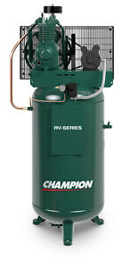 Champion Compressor Vrv5 8 Fully Packaged 5 Hp Single Phase 2475n5f9 251cs80ycbm