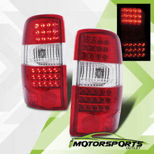 2000 2006 Chevy Suburban Tahoe gmc Yukon Xl Red Clear Led Brake Tail Lights Pair