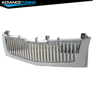 Fits 02 06 Cadillac Escalade Vertical Chrome Front Grille Mesh Grill Brand New