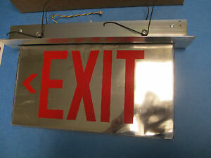 Cooper Sure lights Es Series Led Edge lit Exit Sign new In Box