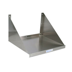 Stainless Steel Microwave Wall Shelf 24 Long Kitchen Restaurant Shelving