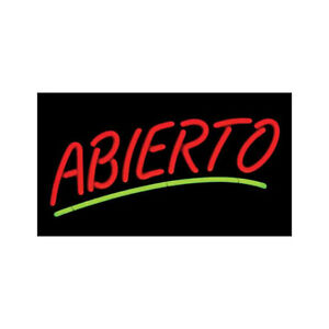 Abierto Neon Sign Spanish Open Store Sign Retail Business Windown Display