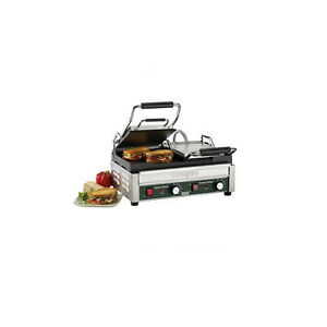 Waring Dual Panini Grill Flat Iron Sandwich Maker Restaurant Concession