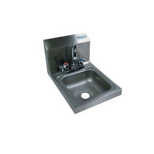 Deck Mount Hand Sink Space Saver stainless Steel