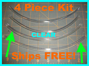Trim Protection 4 Piece Kit 8 Clear Car Door Edge Guards Fits honda