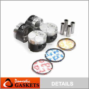 Fit 94 00 Honda Civic 1 6l Dohc High Performance Pistons And Ring Set B16a2