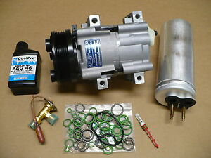 New A C Ac Compressor Kit For 1999 2000 Ford Windstar With 3 0l Engines