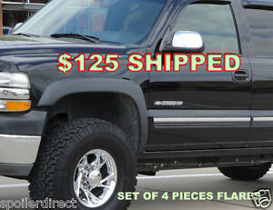 Factory Style Fender Flares For 99 02 Chevy Silverado Gmc Sierra front