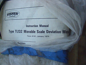 New Fisher Type Tl132 Movable Scale Deviation Meter