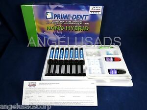 Dental Nano Hybrid Composite Complete Set Kit 7 Syringe Prime Dent
