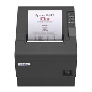 Epson Tm t88iv Charcoal Thermal Printer Parallel Interface With Power Supply
