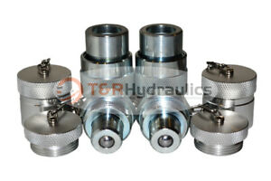 2pk 10 000psi Hydraulic Quick Coupler Set for Enerpac C 604 Style