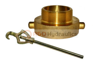 Fire Hydrant Adapter Combo 2 1 2 Nst f X 2 Npt m W hydrant Wrench