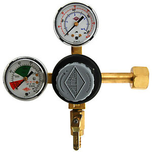 Premium Double Gauge Co2 Pressure Regulator Polycarbonate Kegerator Draft Beer