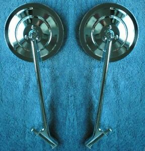 5 Ribbed 1935 1947 Ford Truck New Larger Size Mirrors Pair 1939 1946 Hinge Pin