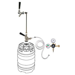 Rod Faucet Co2 System W out Co2 Tank Draft Beer Keg Party Picnic Pump Tap