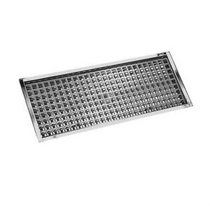 23 7 8 Flanged Mount Drip Tray Stainless Steel W Drain Bar Draft Beer Spill