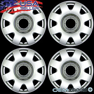 4 New Oem Silver 15 Hub Caps Fits Volkswagen Vw Golf Jetta Tdi Center Wheel Set