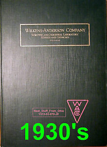 Wilkens anderson Co Scientific Laboratory Supplies Catalog chicago C1930